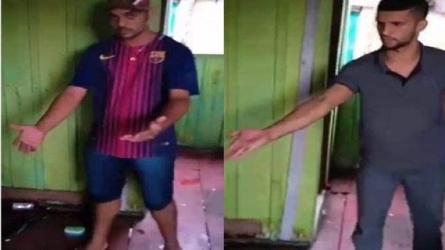 Homens suspeitos de roubo levam 'surra de palmatória' de membros de facção; veja o vídeo