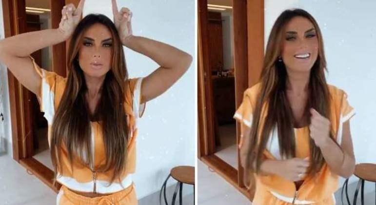 Separada, modelo Nicole Bahls ironiza suposta traição do ex-marido dançando funk